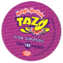 Tazos > Series 1 > 141-180 The Simpsons Magic Motion Back.