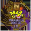 Tazos > Series 3 - Star Wars > 101-130 Techno 104-Tuskin-Raider-With-His-Gaderffii-Stick-(back).
