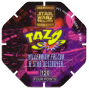 Tazos > Series 3 - Star Wars > 101-130 Techno 120-Millennium-Falcon-&-Star-Destroyer-(back).