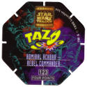 Tazos > Series 3 - Star Wars > 101-130 Techno 123-Admiral-Ackbar---Rebel-Commander-(back).