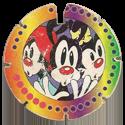 Tazos > Elma Chips > 121-140 Mega Tazo Arma e Voa - Animaniacs 138-Wakko,-Yakko,-&-Dot.