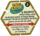 Tazos > Elma Chips > Chester Cheetos Na Máquina do Tempo 03-A-Escrita-(back).
