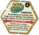 Tazos > Chester Cheetos Na Máquina do Tempo 04-A-Maratona-(back).