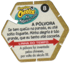 Tazos > Elma Chips > Chester Cheetos Na Máquina do Tempo 08-A-Pólvora-(back).