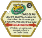 Tazos > Elma Chips > Chester Cheetos Na Máquina do Tempo 12-Cavalo-De-Pau-(back).