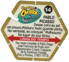Tazos > Elma Chips > Chester Cheetos Na Máquina do Tempo 14-Pablo-Picasso-(back).