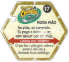 Tazos > Elma Chips > Chester Cheetos Na Máquina do Tempo 17-Roda-Pião-(back).