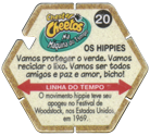 Tazos > Chester Cheetos Na Máquina do Tempo 20-Os-Hippies-(back).