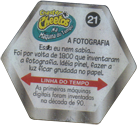 Tazos > Chester Cheetos Na Máquina do Tempo 21-A-Fotografia-(back).