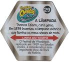 Tazos > Elma Chips > Chester Cheetos Na Máquina do Tempo 29-A-Lâmpada-(back).