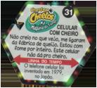 Tazos > Elma Chips > Chester Cheetos Na Máquina do Tempo 31-Celular-Com-Cheiro-(back).