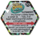 Tazos > Chester Cheetos Na Máquina do Tempo 33-Teletransporte-(back).