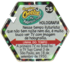 Tazos > Chester Cheetos Na Máquina do Tempo 35-Holografia-(back).
