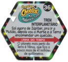 Tazos > Chester Cheetos Na Máquina do Tempo 36-Trem-Interplanetário-(back).