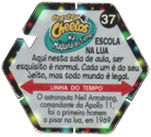 Tazos > Elma Chips > Chester Cheetos Na Máquina do Tempo 37-Escola-Na-Lua-(back).