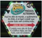 Tazos > Elma Chips > Chester Cheetos Na Máquina do Tempo 42-Prédios-Altíssimos-(back).