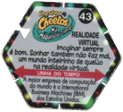 Tazos > Elma Chips > Chester Cheetos Na Máquina do Tempo 43-Realidade-Virtual-(back).