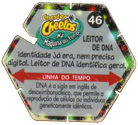 Tazos > Elma Chips > Chester Cheetos Na Máquina do Tempo 46-Leitor-De-DNA-(back).