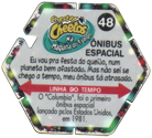 Tazos > Elma Chips > Chester Cheetos Na Máquina do Tempo 48-Ônibus-Espacial-(back).