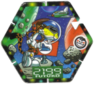 Tazos > Elma Chips > Chester Cheetos Na Máquina do Tempo 48-Ônibus-Espacial.