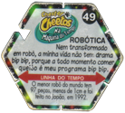 Tazos > Elma Chips > Chester Cheetos Na Máquina do Tempo 49-Robótica-(back).