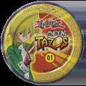 Tazos > Elma Chips > Yu-Gi-Oh! Metal Tazos 01-Yami-Yugi-(back).