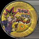 Tazos > Elma Chips > Yu-Gi-Oh! Metal Tazos 02-Yami-Bakura-(back).