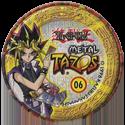 Tazos > Elma Chips > Yu-Gi-Oh! Metal Tazos 06-Yami-Marik-(back).