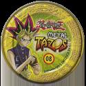 Tazos > Elma Chips > Yu-Gi-Oh! Metal Tazos 08-Yami-Yugi-(back).