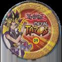 Tazos > Elma Chips > Yu-Gi-Oh! Metal Tazos 09-Mago-do-Caos-das-Trevas-(back).