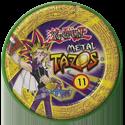Tazos > Elma Chips > Yu-Gi-Oh! Metal Tazos 11-Dragão-Metãlico-Negro-de-Olhos-Vermelhos-(back).