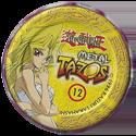 Tazos > Elma Chips > Yu-Gi-Oh! Metal Tazos 12-Amazona-de-Espada-(back).