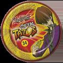 Tazos > Elma Chips > Yu-Gi-Oh! Metal Tazos 34-A-Abdicação-(back).