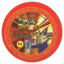 Tazos > Elma Chips > Yu-Gi-Oh! Magic Tazo 01-10-Back-Red-Yami-Yugi-2.