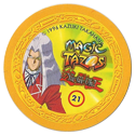 Tazos > Elma Chips > Yu-Gi-Oh! Magic Tazo 21-30-Back-Yellow-Maximillion-Pegasus.