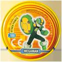 Tazos > MegaMan NT Warrior Metal Tazos 05-back---Megaman-Woodshield-Style.