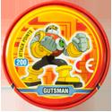 Tazos > MegaMan NT Warrior Metal Tazos 07-back---Gutsman.