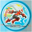 Tazos > MegaMan NT Warrior Metal Tazos 10-back---ProtoMan.