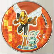 Tazos > MegaMan NT Warrior Metal Tazos 22-back---Glide,-IceMan.