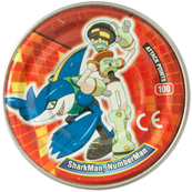 Tazos > MegaMan NT Warrior Metal Tazos 23-back---SharkMan,-NumberMan.