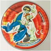 Tazos > MegaMan NT Warrior Metal Tazos 23-back---SharkMan,-NumberMan.