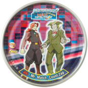 Tazos > MegaMan NT Warrior Metal Tazos 26---Mr.-Match,-Count-Zap.