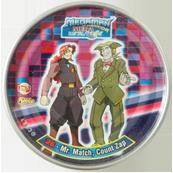 Tazos > MegaMan NT Warrior Metal Tazos 26---Mr.-Match,-Count-Zap.