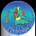 Tazos > Pokémon Tazo 3 162-#158-Totodile.