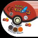 Tazos > Pokémon Tazo 3 Back.