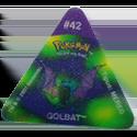 Tazos > Pokemon Trio 16-#42-Golbat.