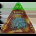 Tazos > Pokemon Trio 21-#111-Rhyhorn.