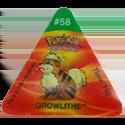 Tazos > Pokemon Trio 24-#58-Growlithe.