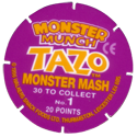 Tazos > Walkers > Monster Munch Series 1 Back.