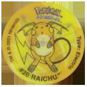 Tazos > Walkers > Pokémon 02-#26-Raichu.